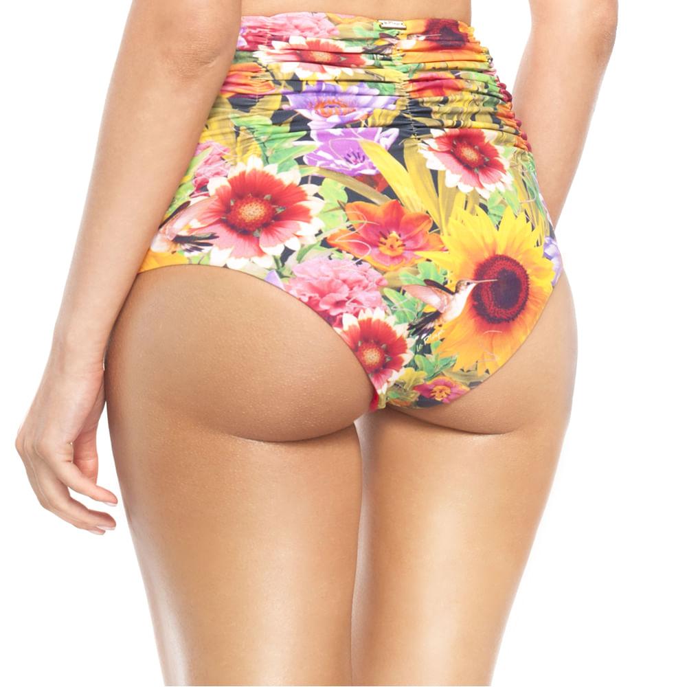 3c76da943 Calcinha Hot Pants do Biquíni La Playa Dupla Face Girassol - Meu Biquini