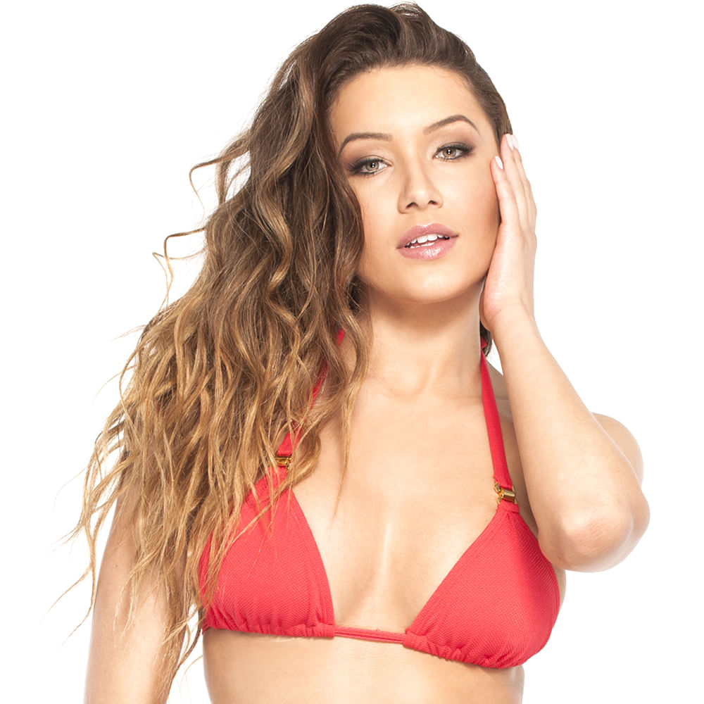 Top-Alongado-Frente-Unica-do-Biquini-La-Playa-Liso-Rosso