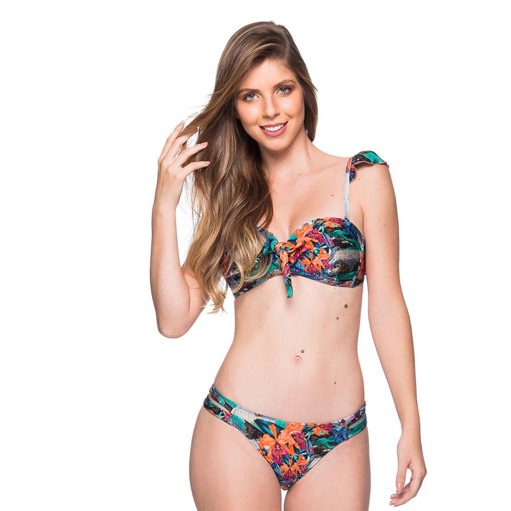 e292d40f7 Biquíni Tomara Que Caia Alça Babado Noronha Floral Trends La Playa 2019